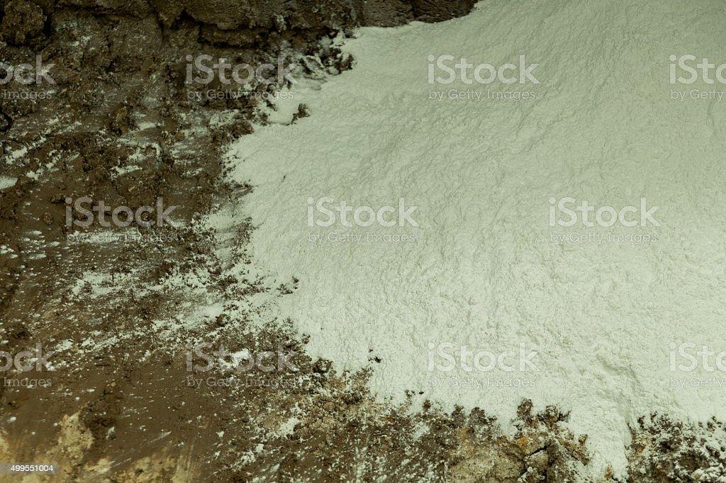 polvo blanco stock photo