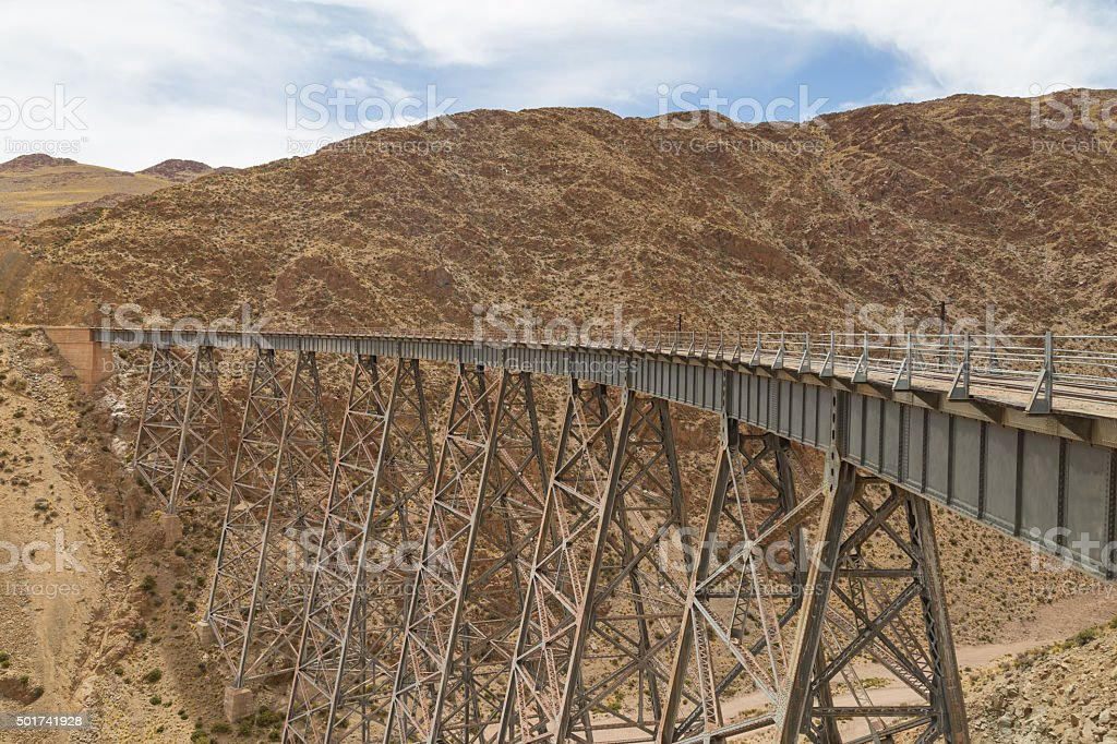 Polvorilla Viaduct in Argentina stock photo