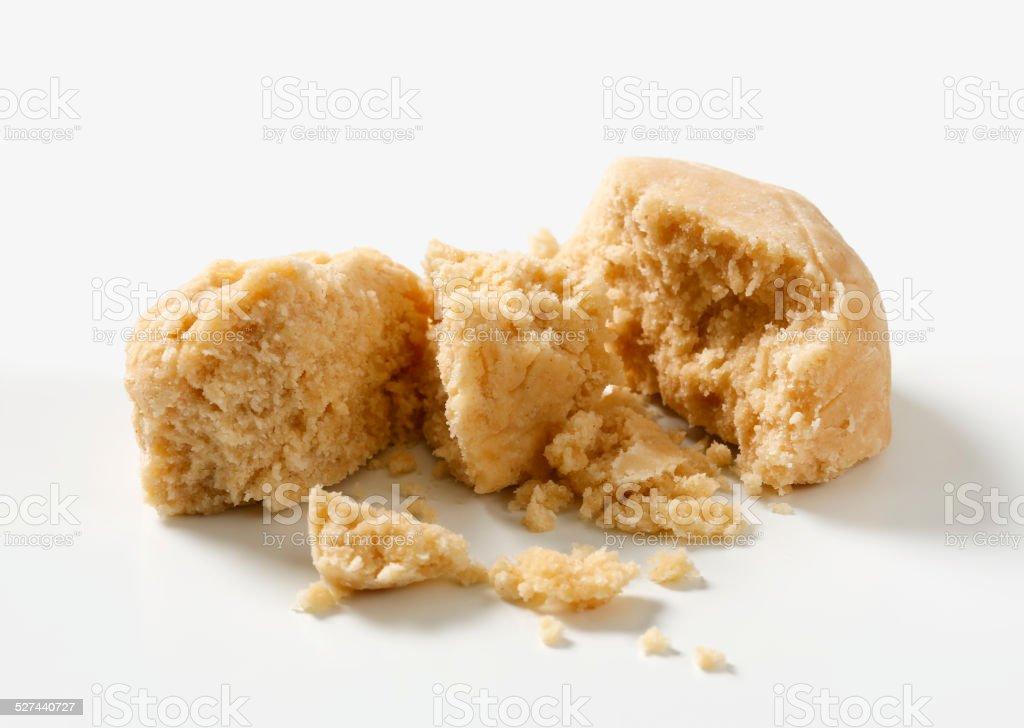 Polvoron - Spanish Shortbread Cookie stock photo