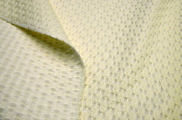 polyamid-gewebe mit wolle und acryl, elfenbein jacquard matlas - damaststahl stock-fotos und bilder
