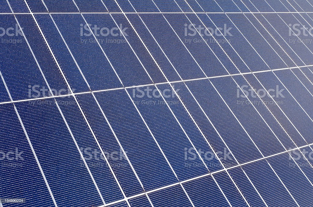 Polycrystalline solar cells stock photo