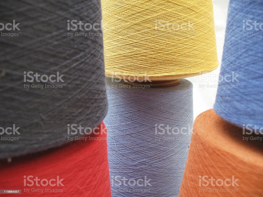 Polyester Yarn stock photo