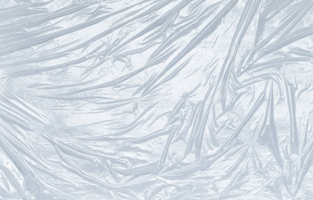 Polyethylene foil or package close-up, abstract background stock photo