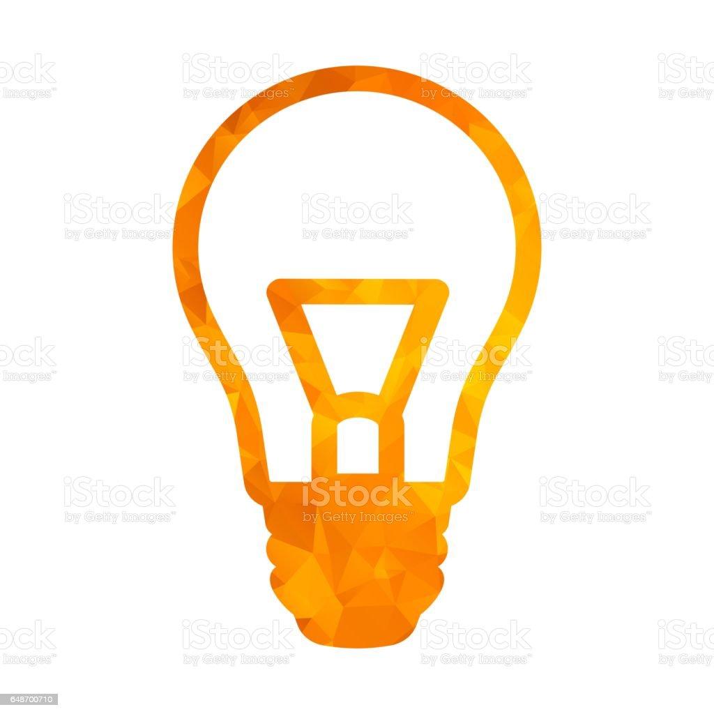 polygon golden icon lamp stock photo