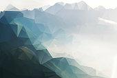 Polygon mountain landscape background on augstmatthorn, canton of berne, switzerland
