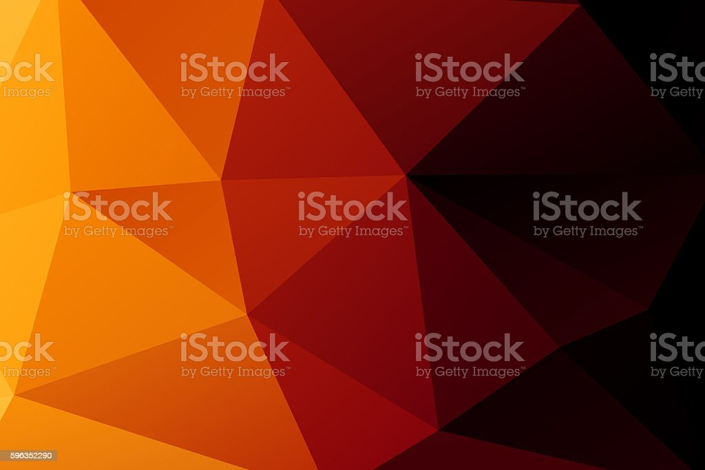 Polygon. orange low poly abstract background royalty-free stock photo