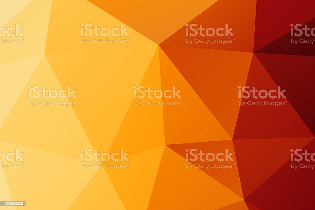 Polygon. orange low poly abstract background Lizenzfreies stock-foto