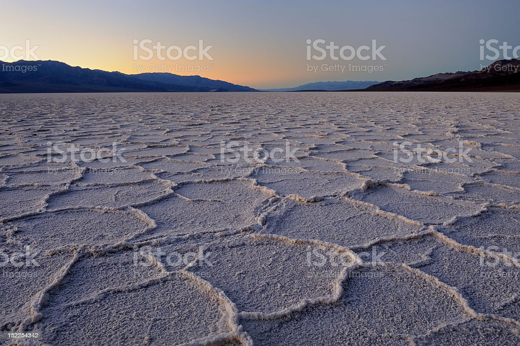 Polygon salt pans stock photo