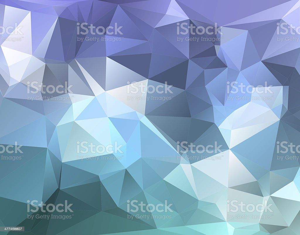 Polygon triangle abstract background in blue purple hues stock photo