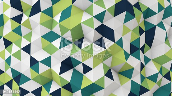 istock polygonal 3D render geometric surface 942181442