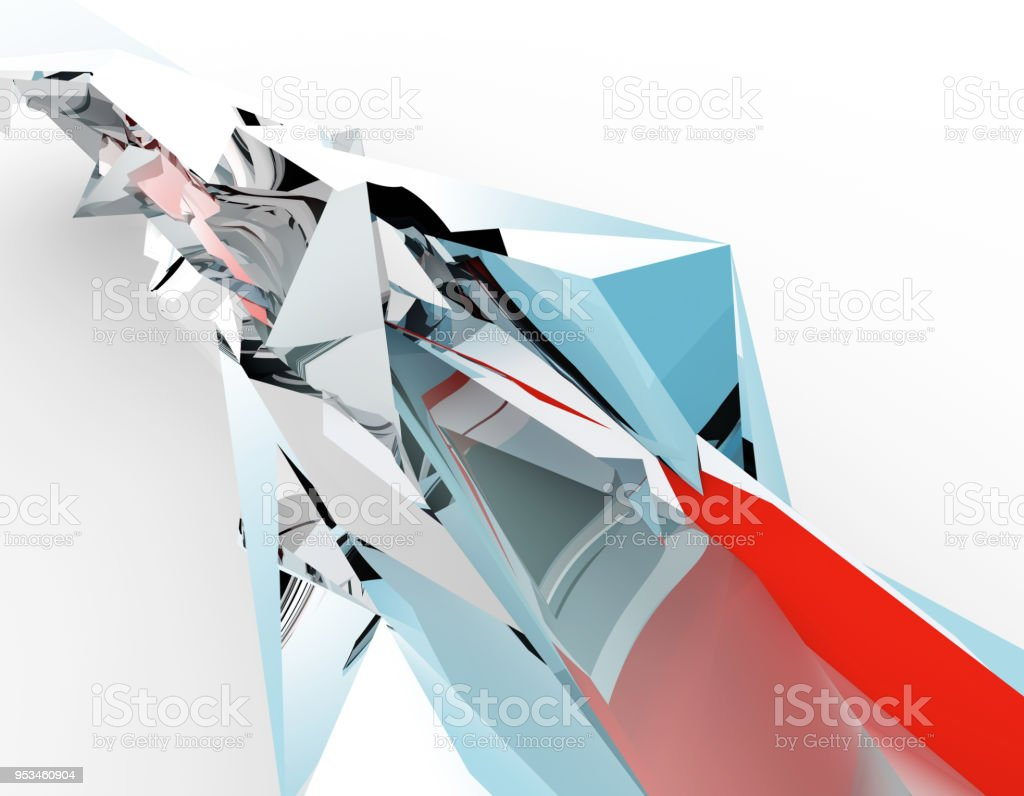 Polygonal crystals, technical background, hard diamonds stock photo