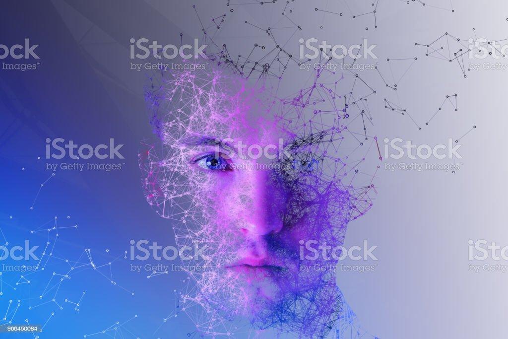 Retrato de hombre poligonal - Foto de stock de Adulto libre de derechos