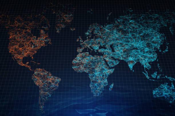 Polygonale Karte Hintergrund – Foto