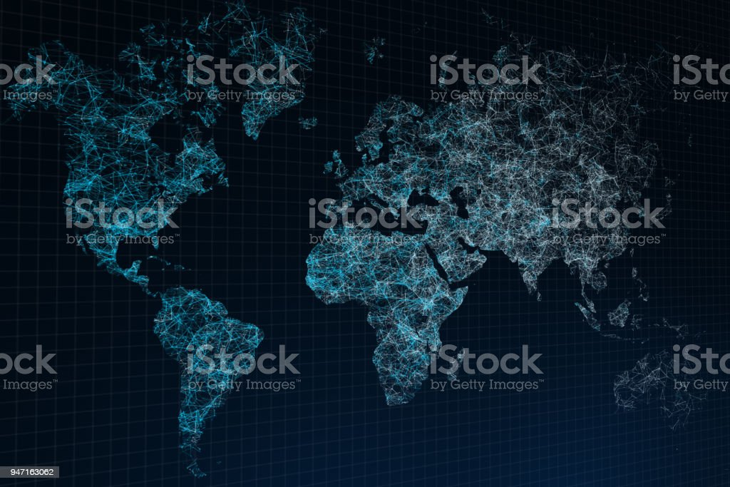 Polygonal map background stock photo