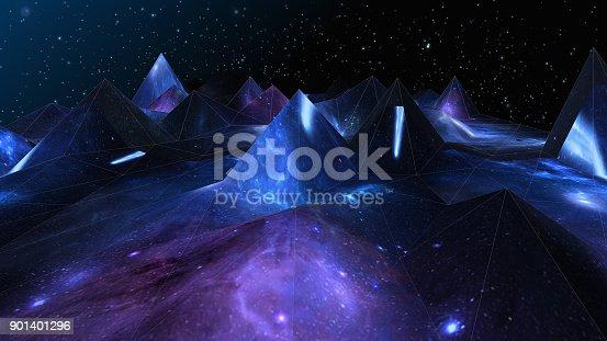 istock Polygonal Wave 901401296