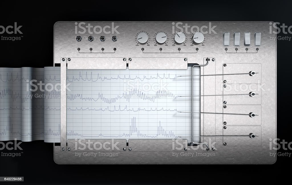 Polygraph Lie Detector Machine stock photo
