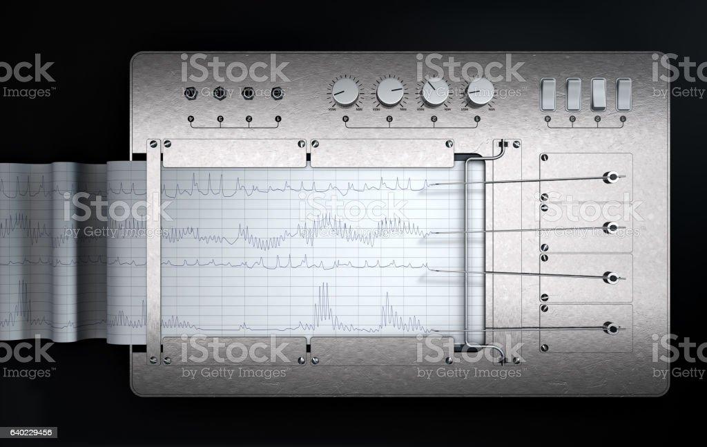 Polygraph Lie Detector Machine - foto de stock