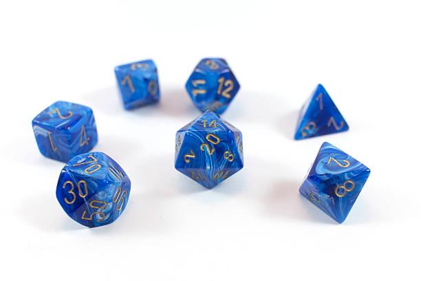 polyhedral dice - veelvlakkig stockfoto's en -beelden