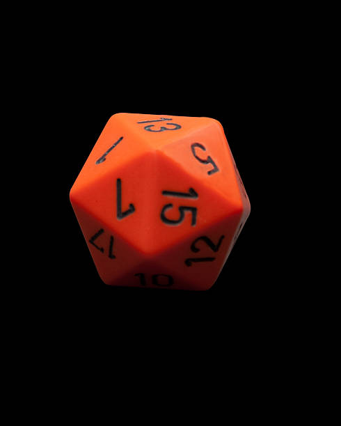 Polyhedral Dice with clipping path stock photo