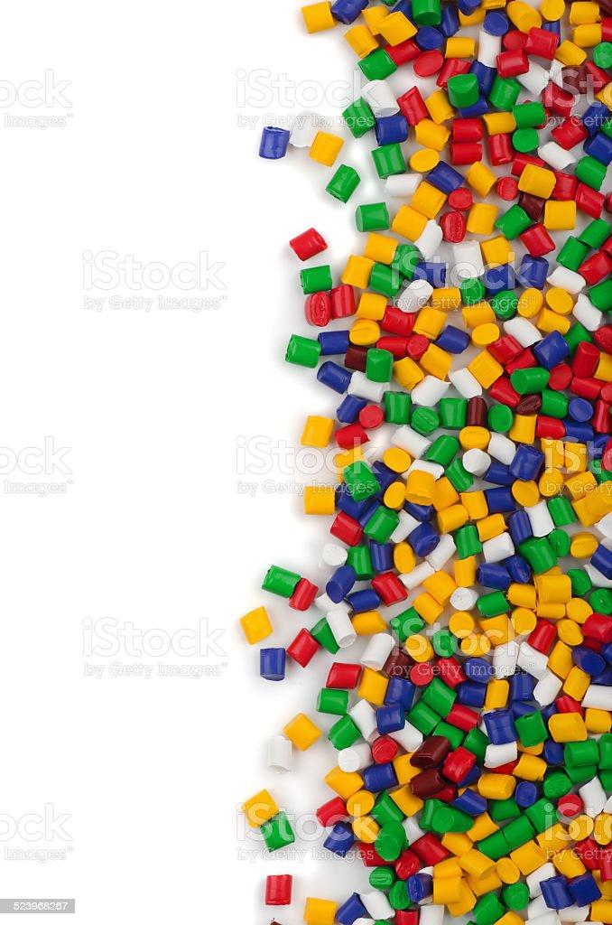 Polymer granules stock photo