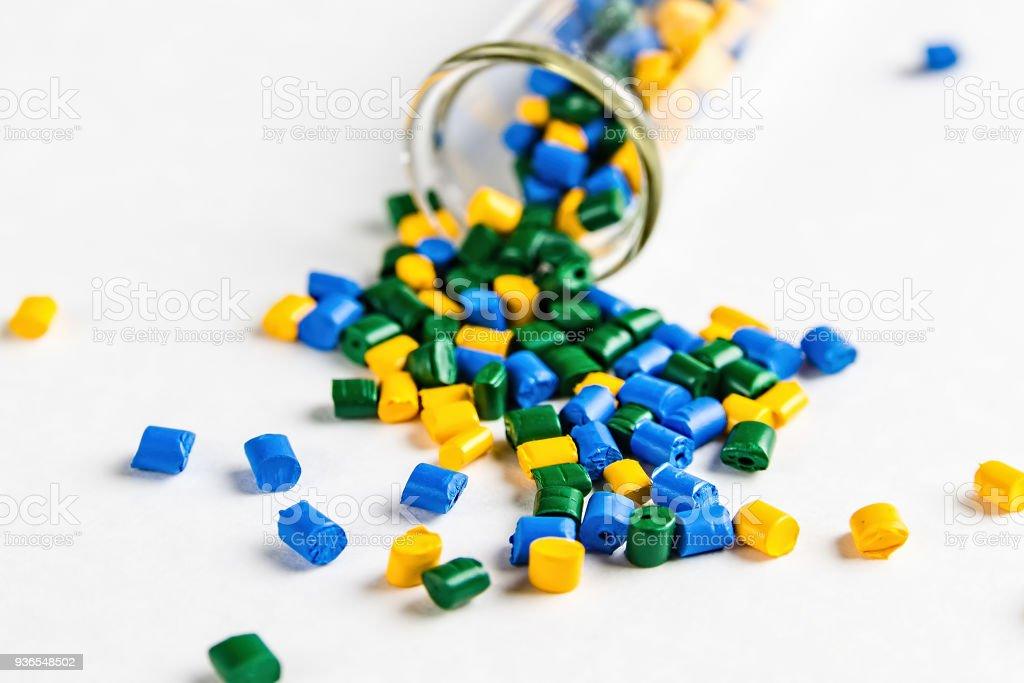 Fotografía de Colorante Polimérico Pellets De Plástico En Los ...