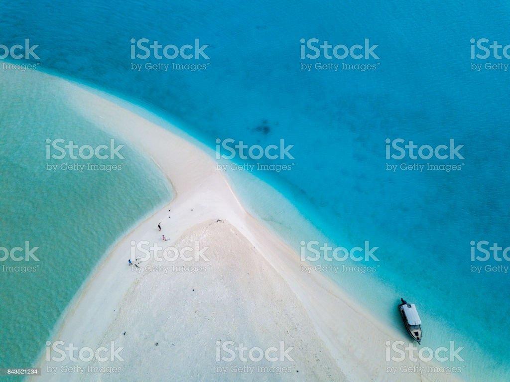 Polynesia Cook Island tropical paradise aerial view stock photo