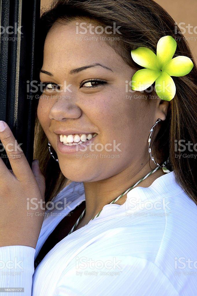 Polynesian Beauty royalty-free stock photo