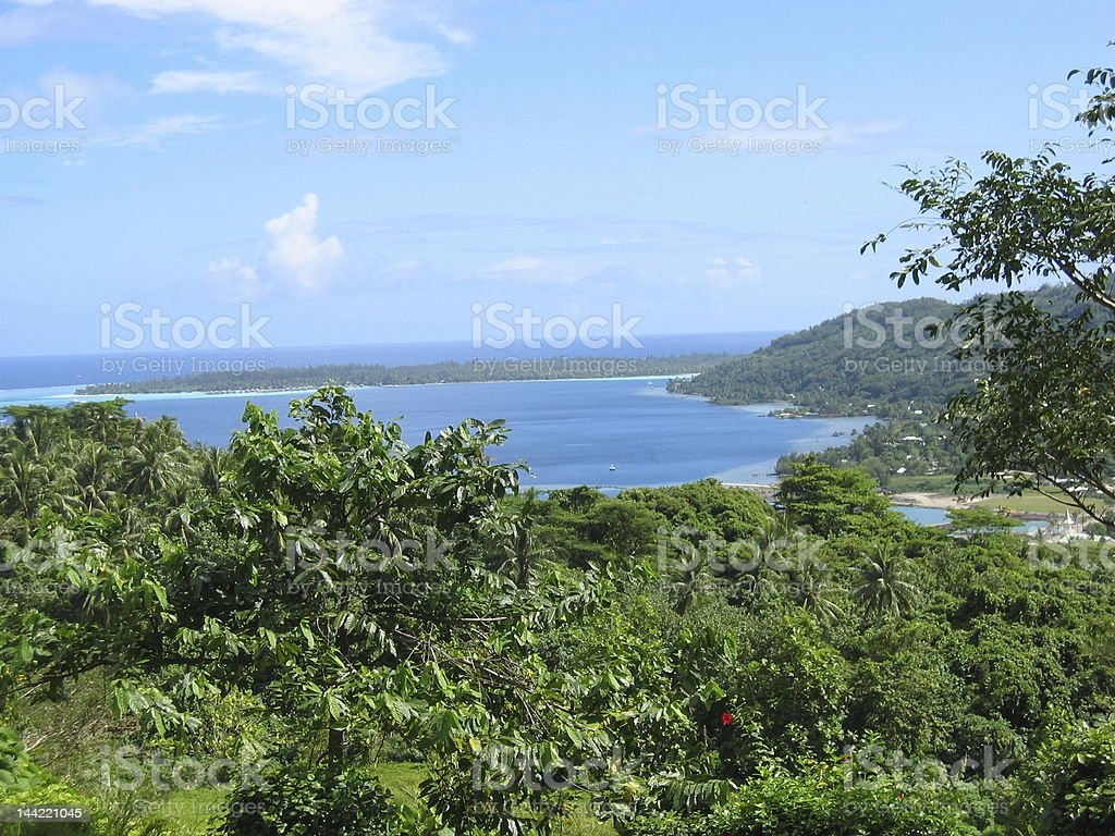 Polynesian Landscape stock photo