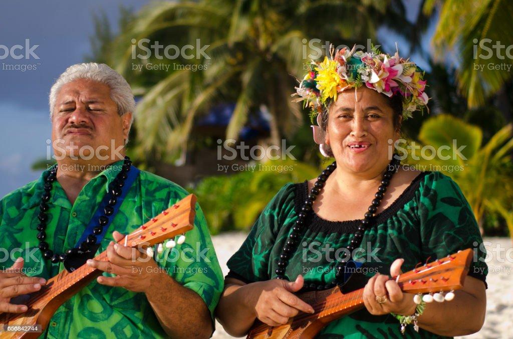 Polynesian Pacific Island Tahitian Music stock photo