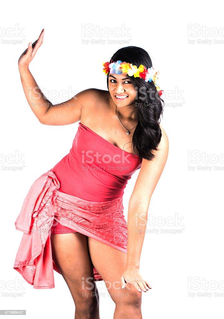 Polynesian stance royalty-free stock photo