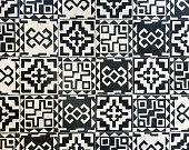 Polynesian tile textured