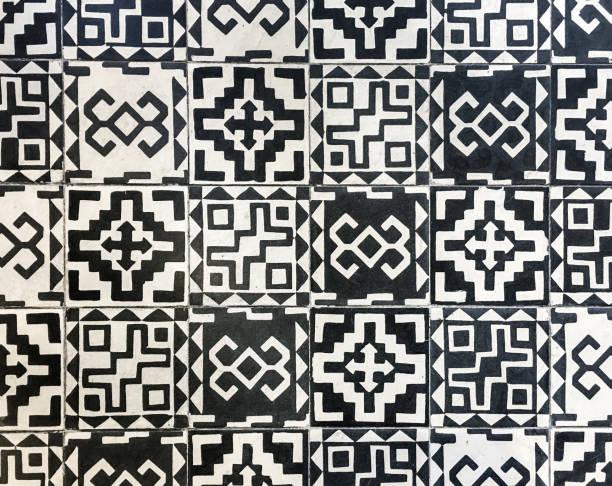 Polynesian tile textured stock photo