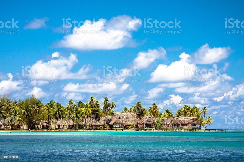 Polynesische Village in Huahine – Foto