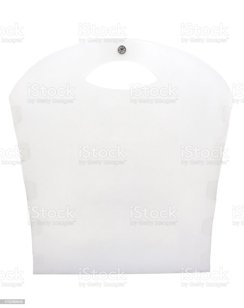 Polypropylene (PP) plastic bag stock photo