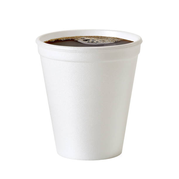 Polystyrene coffee cup on white background Polystyrene thermo coffee cup on white background including clipping path polystyrene stock pictures, royalty-free photos & images