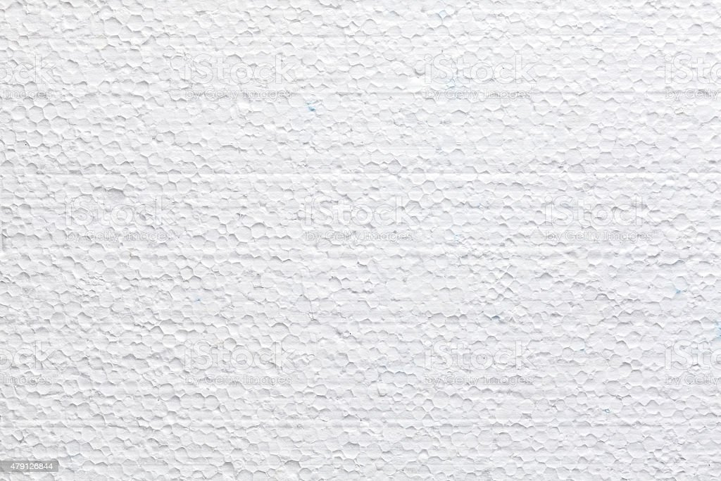 Polystyrene foam texture or background. stock photo