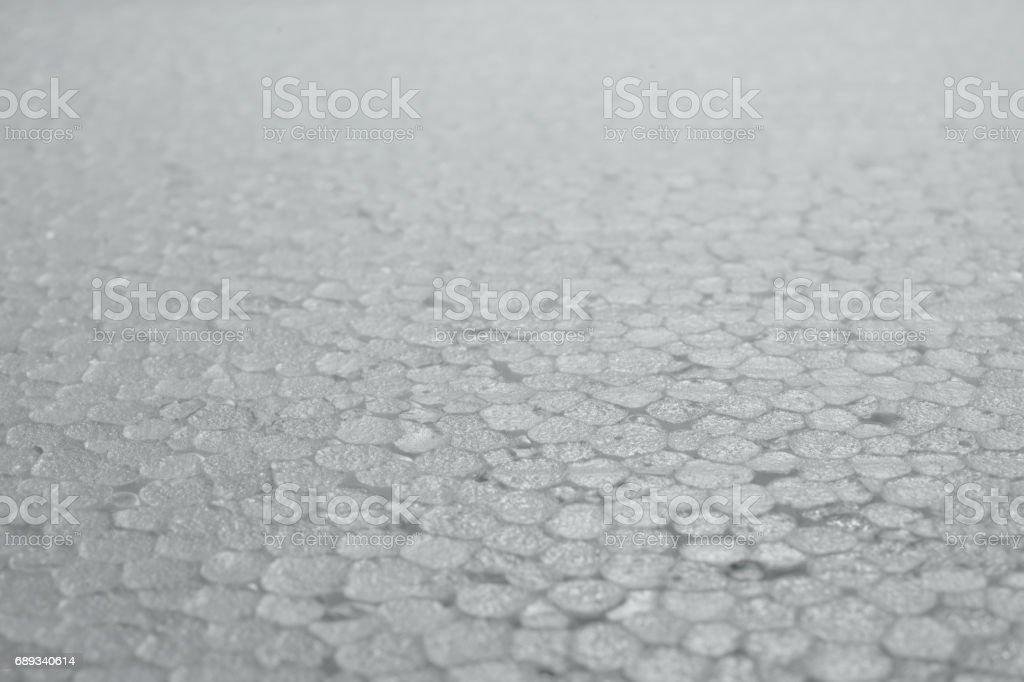 Polystyrene foam texture (shallow DOF) stock photo