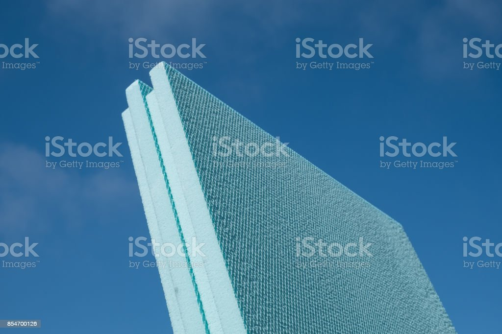 XPS polystyrene insulation board stock photo