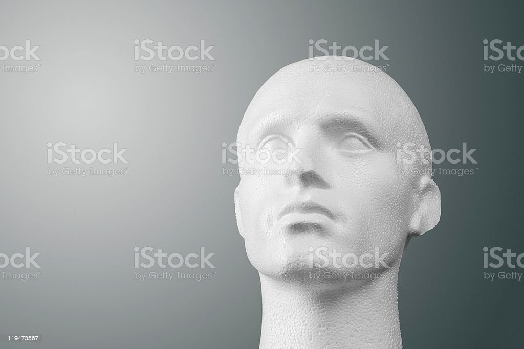 Polystyrene Mannequin Head Portrait stock photo