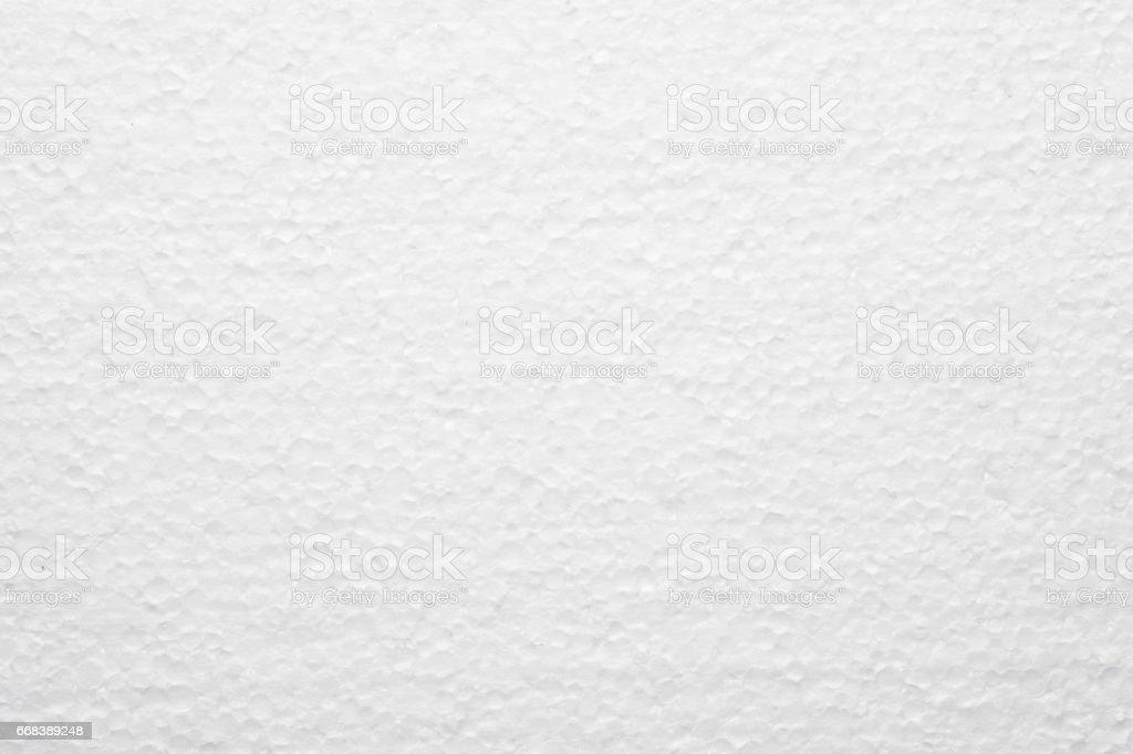 Polystyrene styropor in white as background stock photo