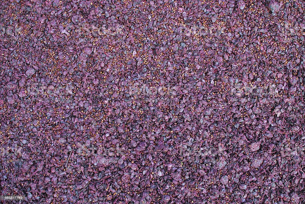 Pomace residue after pressing stock photo