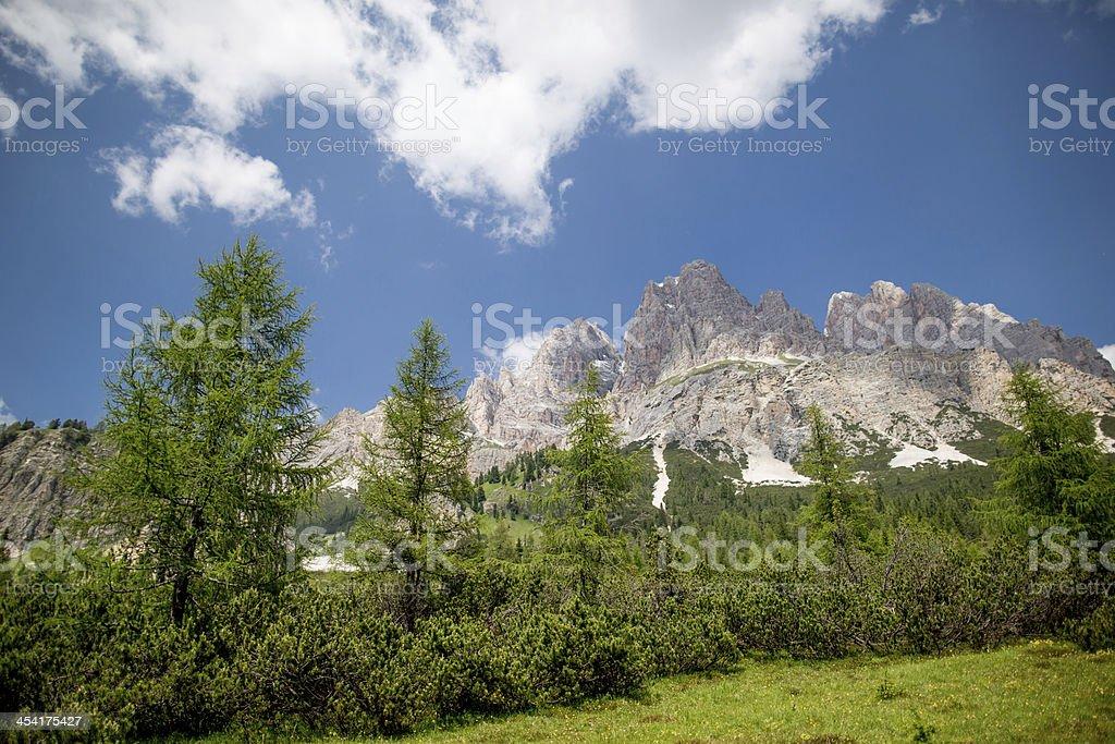 Pomagagnon mountain royalty-free stock photo