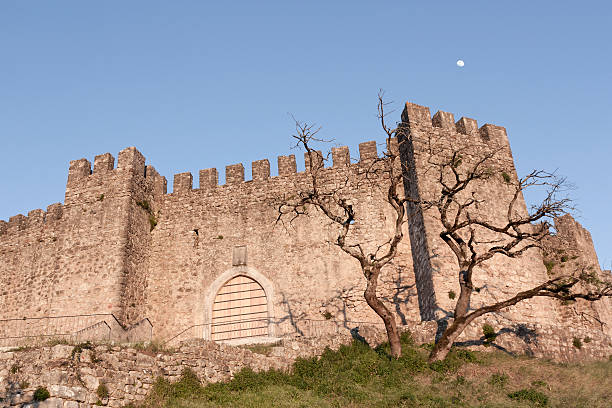 Pombal Castle Detail - Portugal stock photo