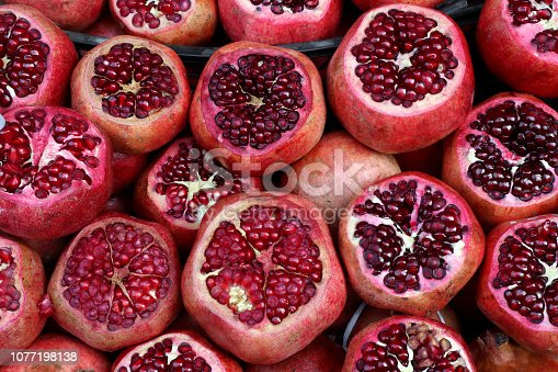 Close up of pomegranate background