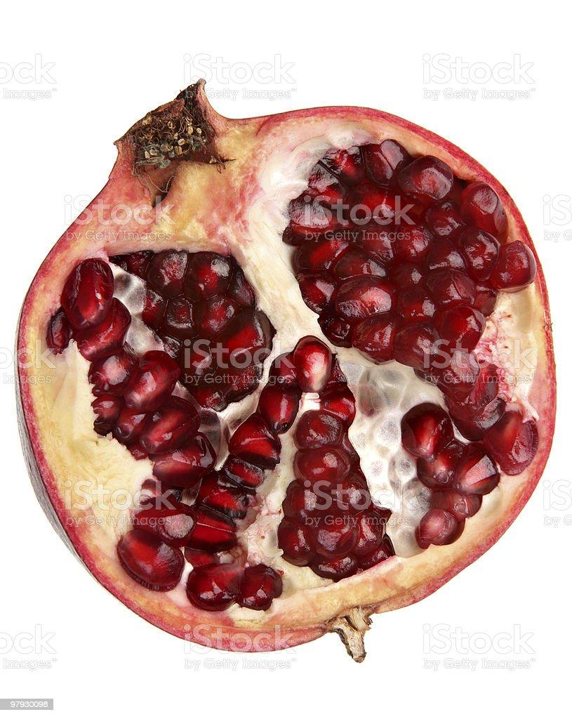 Pomegranate fruit part royalty-free stock photo