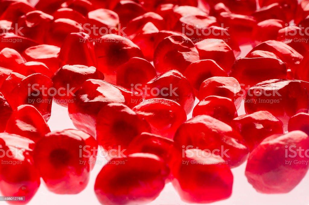 Pomegranate grains stock photo
