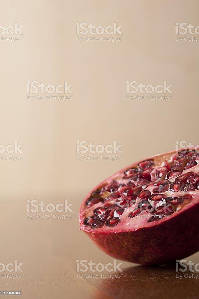 pomegranate half royalty-free stock photo