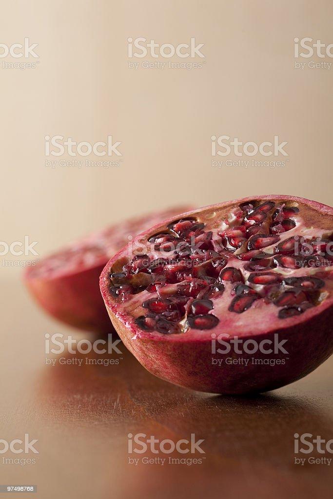pomegranate halves royalty-free stock photo
