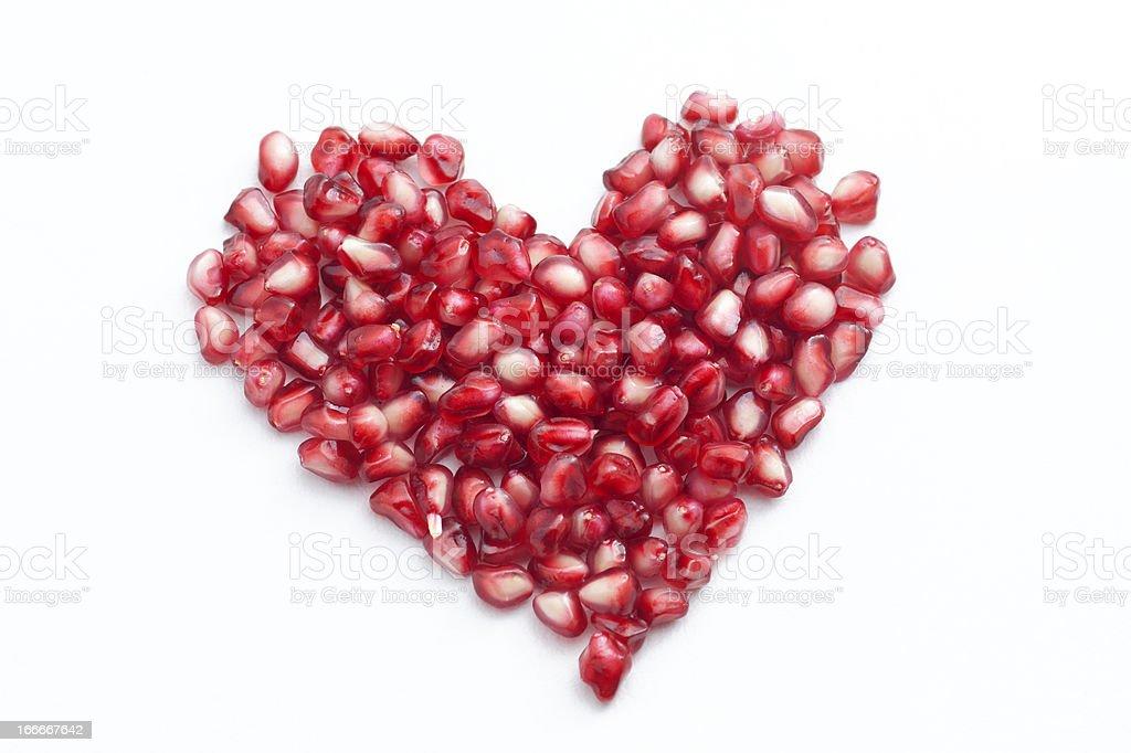 Pomegranate Heart royalty-free stock photo