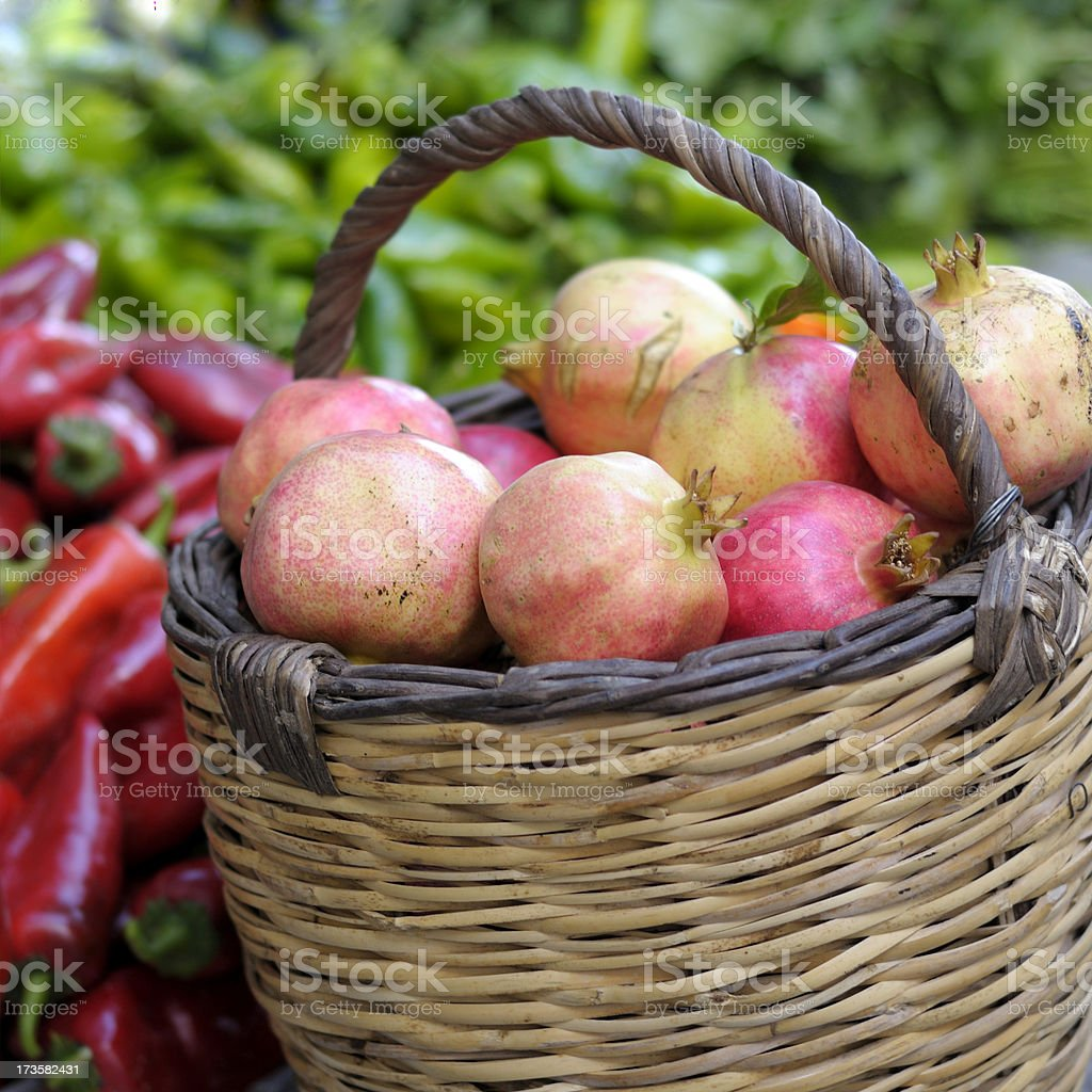 Pomegranate in a Bazaar royalty-free stock photo
